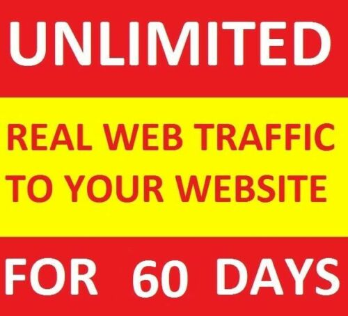 UNLIMITED Genuine Real Website TRAFFIC for 2 months(60 days) for $6