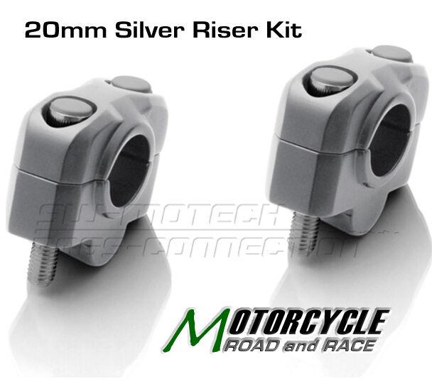 30mm Black Handlebar Risers Yamaha XJR1300 1998-2009 SW Motech