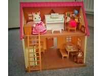 ❤️Sylvanian Families Cosy Cottage- complete play set with furniture etc ❤️ new