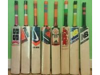 BRAND NEW CRICKET BATS, ALL BRANDS AVAILABLE, THICK EDGE, S H, ENGLISH WILLOW,NEW STOCK AVILABLE