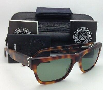 Polarized CHROME HEARTS Sunglasses PUMPINETHYL MBST Matte Tortoise w/ Green lens