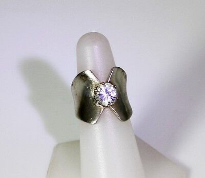 Gorgeous Sterling Silver Cubic Zirconium Band Ring Sz 7 - 11534 Cubic Zirconium Silver Bands