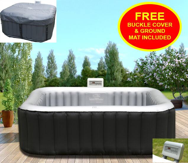 Mspa Alpine Luxury Inflatable 4 2 Square Portable Jacuzzi Hot Tub ...
