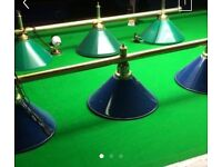 Pool snooker table light used for bar pub