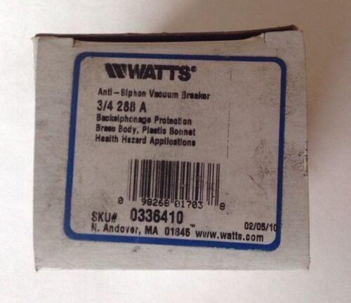 Watts Anti-Siphon Vacuum Breaker 3/4   288A