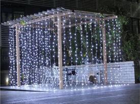 Cool white led curtain lights multi function wedding Christmas 3x3