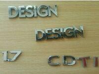 Vauxhall Corsa C D 1.7 CDTI Design badges - perfect condition - £10