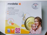 Medela swing breast pump with Calma Teat boxed in excellent condition