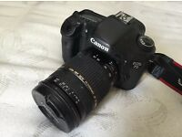 Canon 7d 18.0MP with Tamron 18-75mm lens