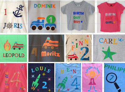Gebraucht, T-Shirt Geburtstagshirt GEBURTSTAG individuell handmade dawanda 92 98 104... gebraucht kaufen  Stuttgart