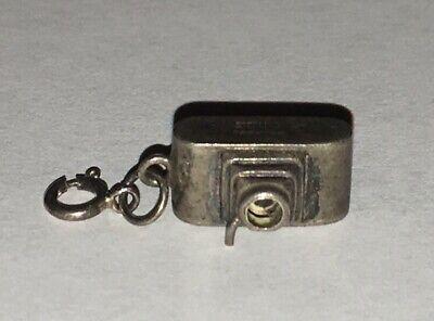 "Sterling Silver Camera Charm - VINTAGE 1/2"" FIGURAL CAMERA STERLING SILVER CHARM"