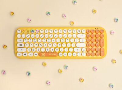 Winnie the Pooh Retro Keyboard Wireless Character Cute Bluetooth Keyboard