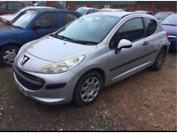 Peugeot 207 1.4 2007 starts and drives spares or repairs salvage damaged car