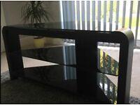 Black gloss glass modern corner TV unit EXCELLENT CONDITION