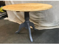 Refurbished Pine Oval Coffee Table