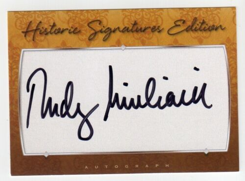 RUDY GIULIANI Signed Historic Signatures Card - Autograph Auto