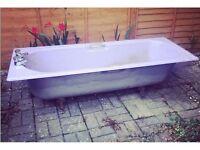 Purple cast iron bath