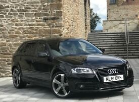 ✅ (61) AUDI A3 BLACK EDITION + HEATED LEATHER SEATS + PARKING SENSORS + BARGAIN ( GOLF GTD / GT )
