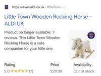 Little Town Wooden Rocking Horse