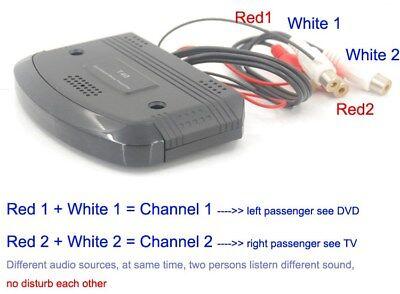 car infrared wireless ir transmitter audio sender dual channel for IR headphone Channel Infrared Wireless Headphones