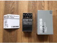 Boss RV-3 digital reverb/delay guitar effects pedal - MINT, RARE