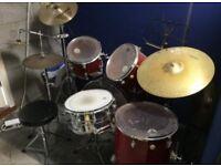 Full set of drums
