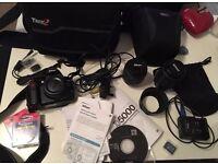 *HUGE BUNDLE* Nikon D5000 digital camera DSLR 12.3MP, Kit, Accessories, Bags