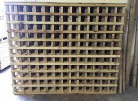New Pressure Treated Trellis Fence Panels