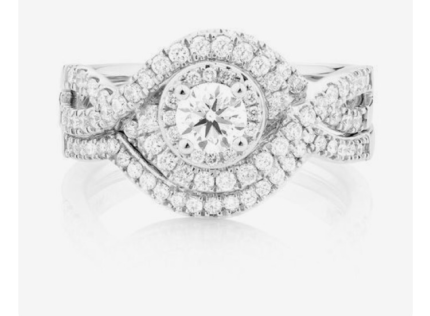 Michael Hill engagement ring bridal set revalued at $4200