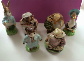 X6 Beatrix Potter ornaments