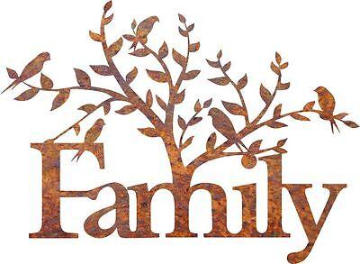 DXF CNC dxf for Plasma FAMILY TREE BIRDS Clip Art Vector Metal Wall Art Dxf