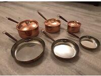 Copper Plated Pots & Pans