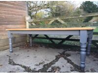 Large 8ft Farmhouse Kitchen Dining Table