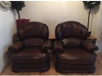 Two gorgeous Vintage French Club Chairs