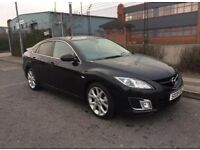 *** 2008 MAZDA 6 2.0 TD SPORT ONLY 1 FORMER KEEPER+HALF LEATHER+PRIVACY GLASS+ALLOYS*** £2499!