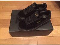Fenty Creepers Rihanna Black Suede Trainers Sneakers Shoes Footwear Girls Females Women Size 4, 5,6
