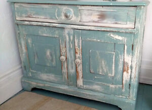 Rustic Distressed Antique Country Hutch