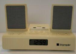 iHome 2go Portable Speaker Travel Alarm Clock 30-Pin Audio Dock - iHome iH26W