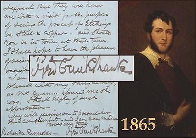 Authentic GEORGE CRUIKSHANK SIGNED Handwritten LETTER Rare Original AUTOGRAPH