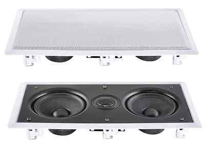 """e-audio Water Resistant Professional Dual 6.5"""" 2 Way In-Wall Speaker #B413"""
