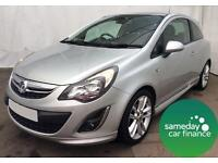 £138.62 PER MONTH SILVER 2012 VAUXHALL CORSA 1.2 SRI 5 DOOR PETROL MANUAL