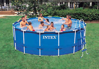 15ft Pool with pump, vacuum, chemicals and pool cover