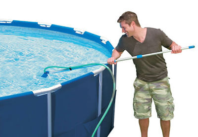 Intex Cleaning Maintenance Swimming Pool Kit w/ Vacuum Skimmer Net & Pole 28002E - Intex Pool Vacuum