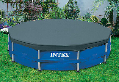 Pool Debris Cover - Intex 15' Round Frame Above Ground Pool Debris Cover with Drain Holes | 28032E