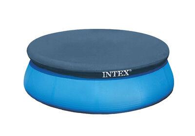 Intex 8' Easy Set Above Ground Swimming Pool Debris Vinyl Cover Tarp 28020E