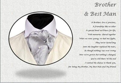 BROTHER & BEST MAN personalised poem (Laminated