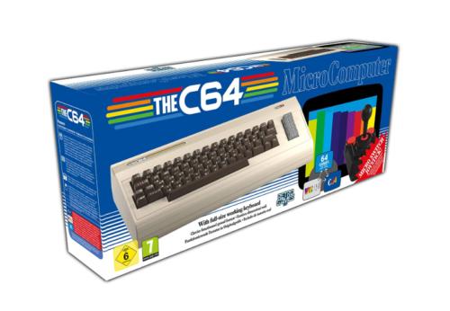 Retro Games The C64 Maxi Retro Spielkonsole Tastatur Joystick Spiel Konsole NEU