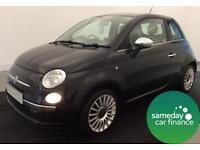 £107.39 PER MONTH STUNNING BLACK 2009 FIAT 500 1.2 POP 3 DOOR MANUAL PETROL