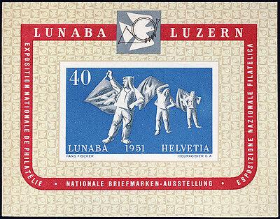 SCHWEIZ 1951, Block 14, tadellos postfrisch, Mi. 280,-