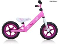 Brand new Balance Bikes Rebel Kidz Butterfly Pink 12,5' Air Tyres